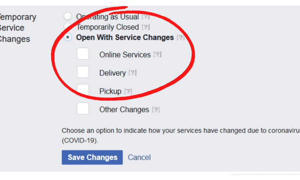 Facebook Open With Changes Setting