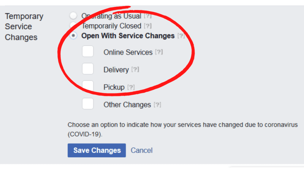 You've Updated Your Business Facebook Settings With COVID-19 Changes, Right?